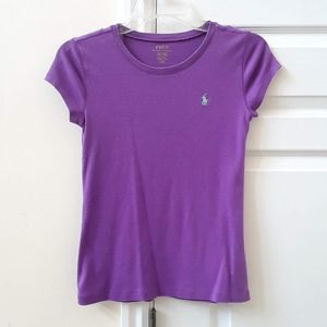 Purple Polo Logo Tee